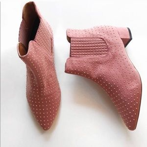 TopShop Pink Studded Booties.